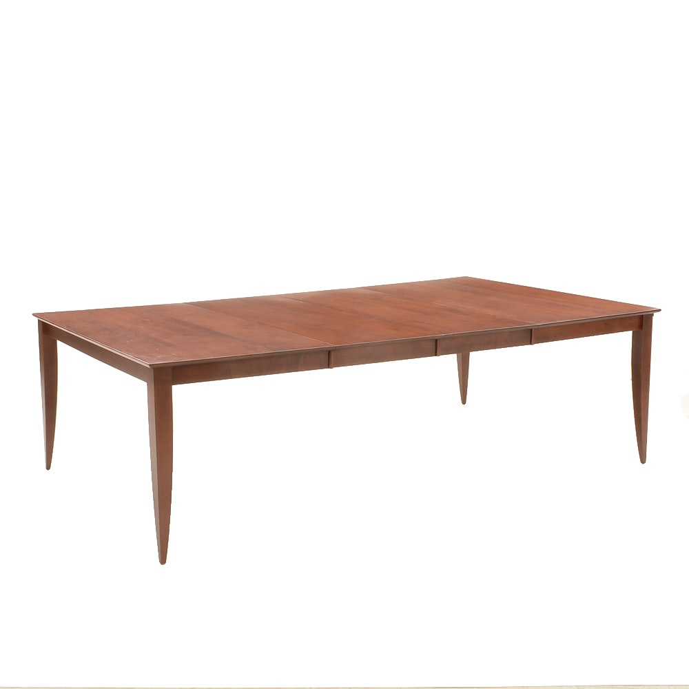 Saloom Furniture Maple Dining Table with Two Leaves