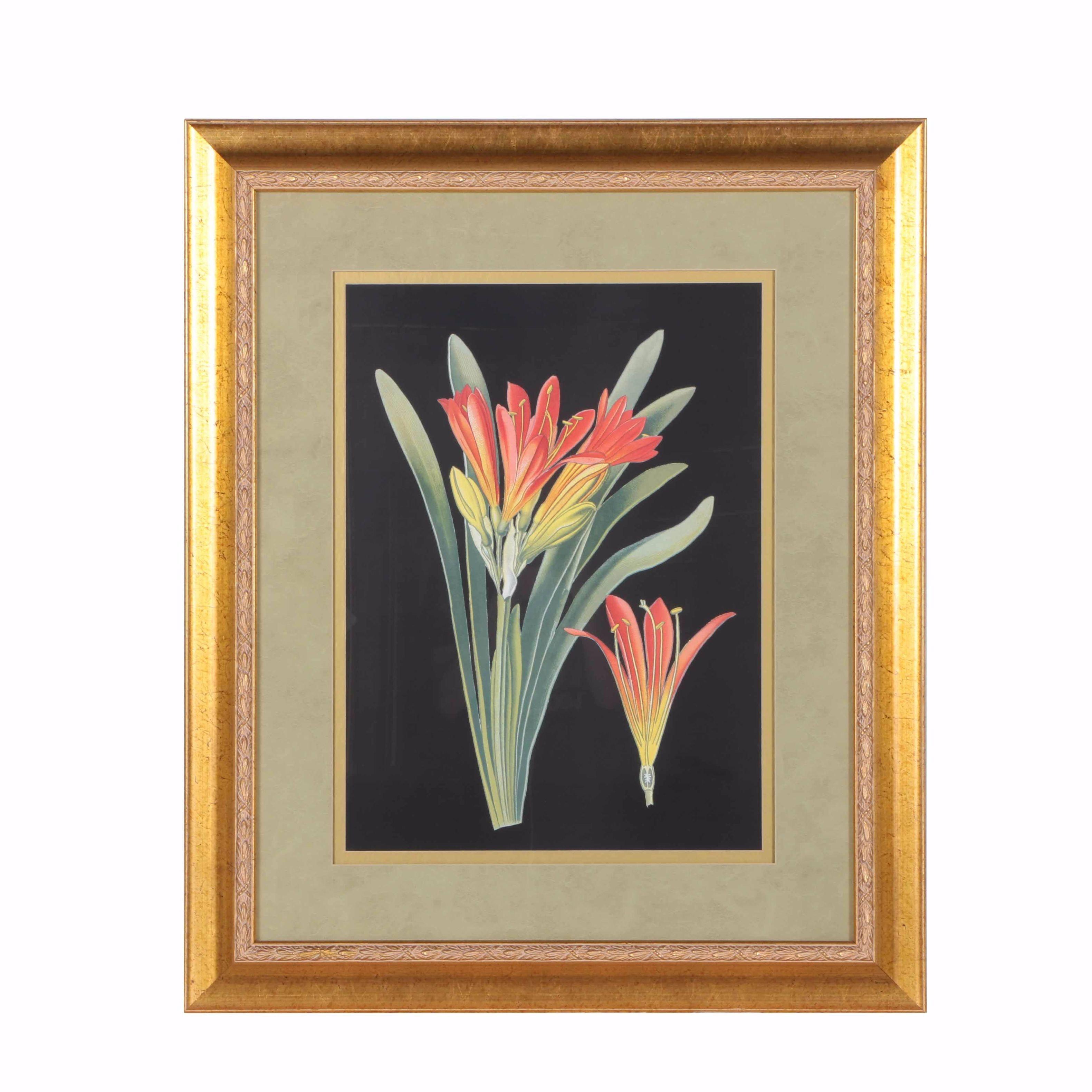 Framed Offset Lithograph Floral Still Life