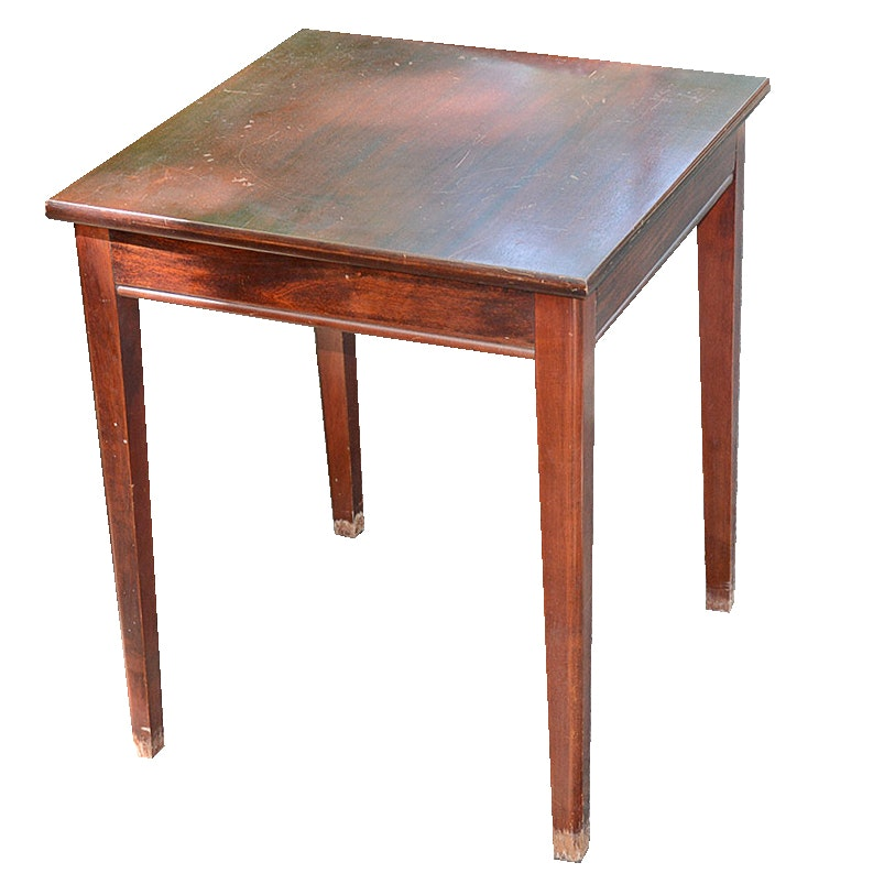 Captivating Vintage Mahogany Side Table With Rotating Top ...