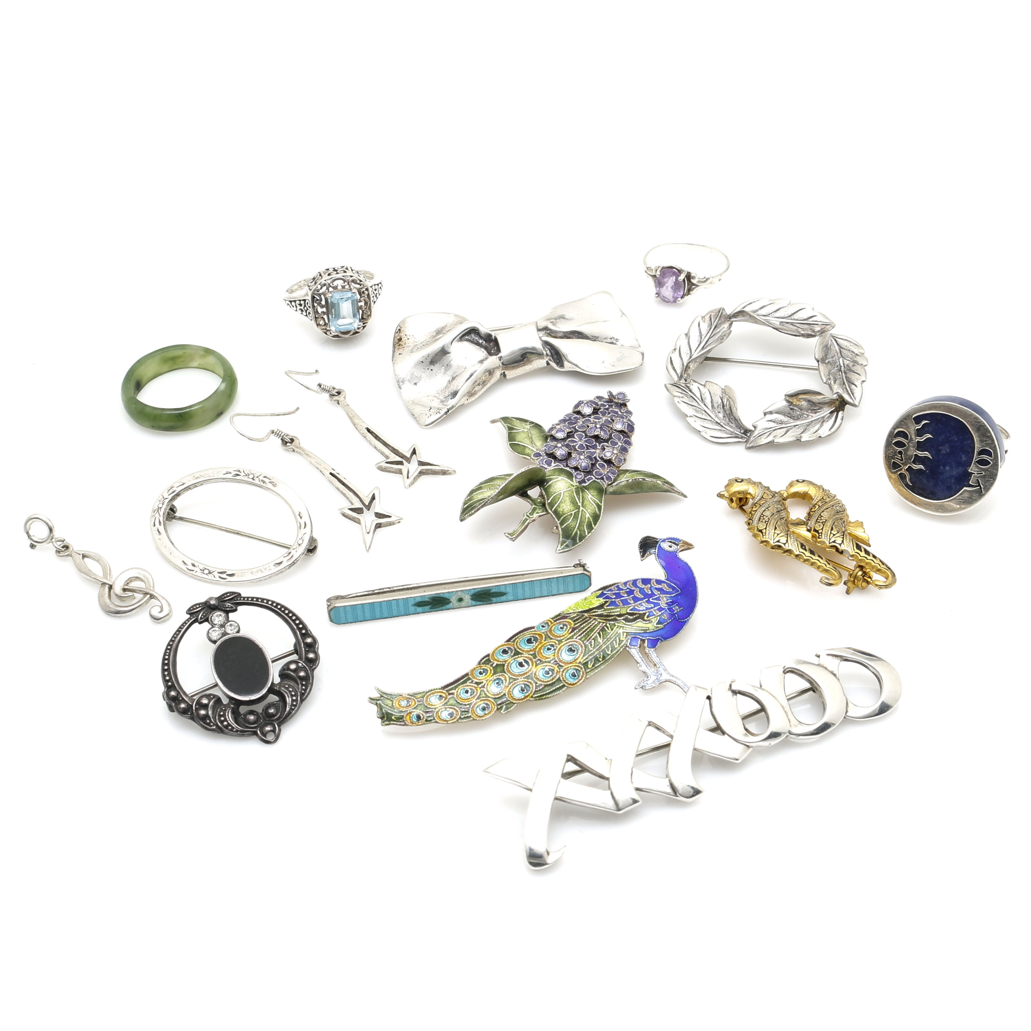 Sterling Silver and Stone Jewelry Including Tiffany & Co.