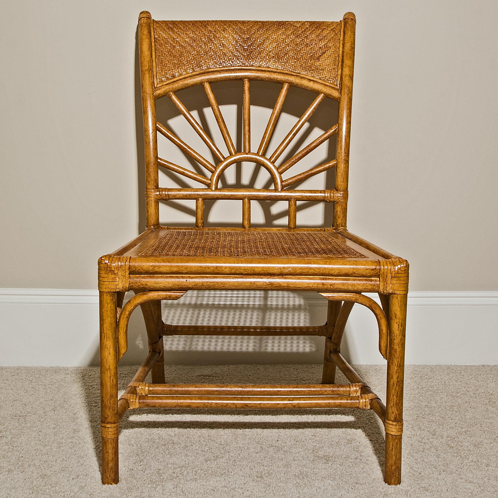 Split Cane Accent Chair