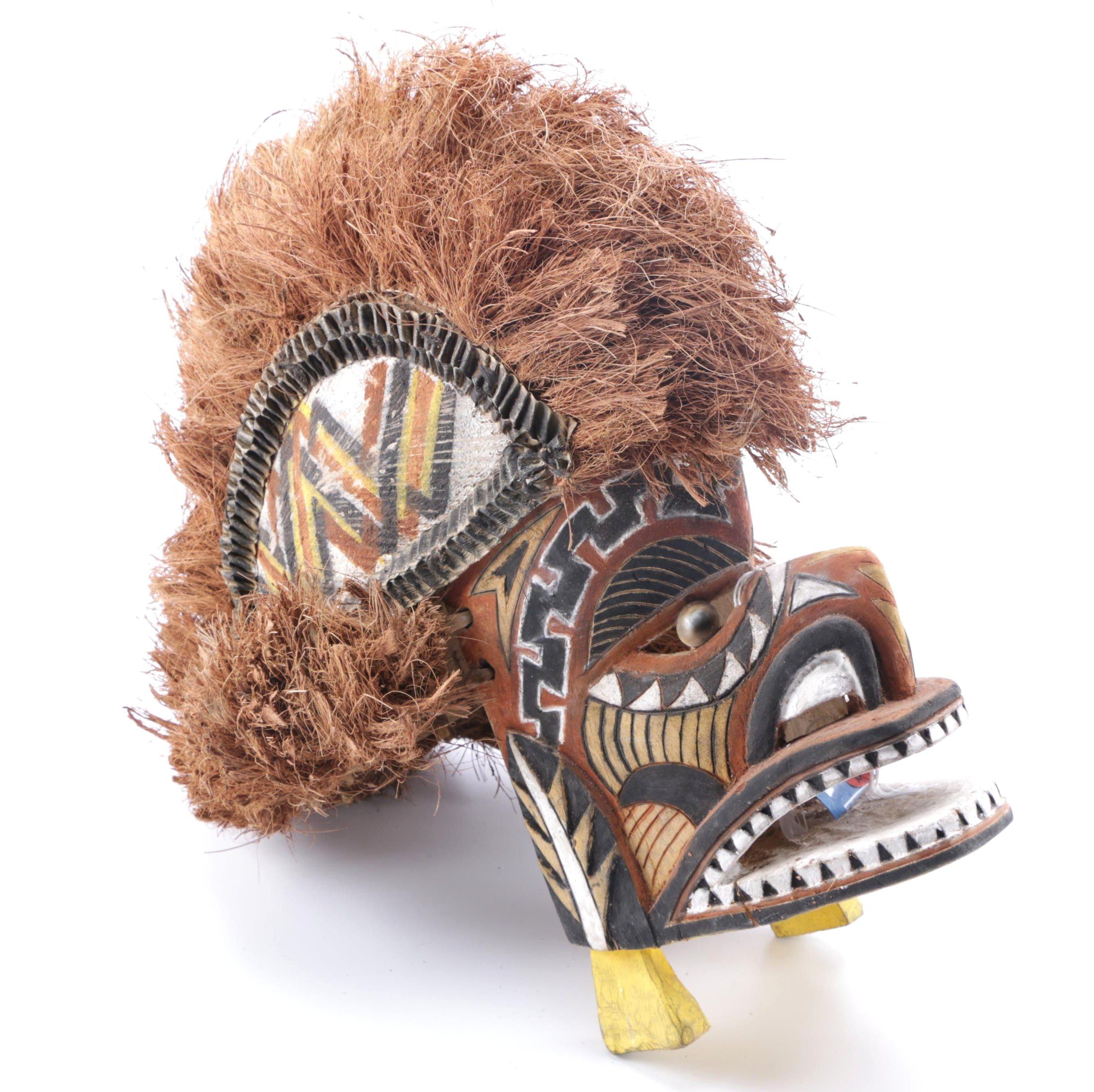 Tatanua Mask From New Ireland Province of New Guinea