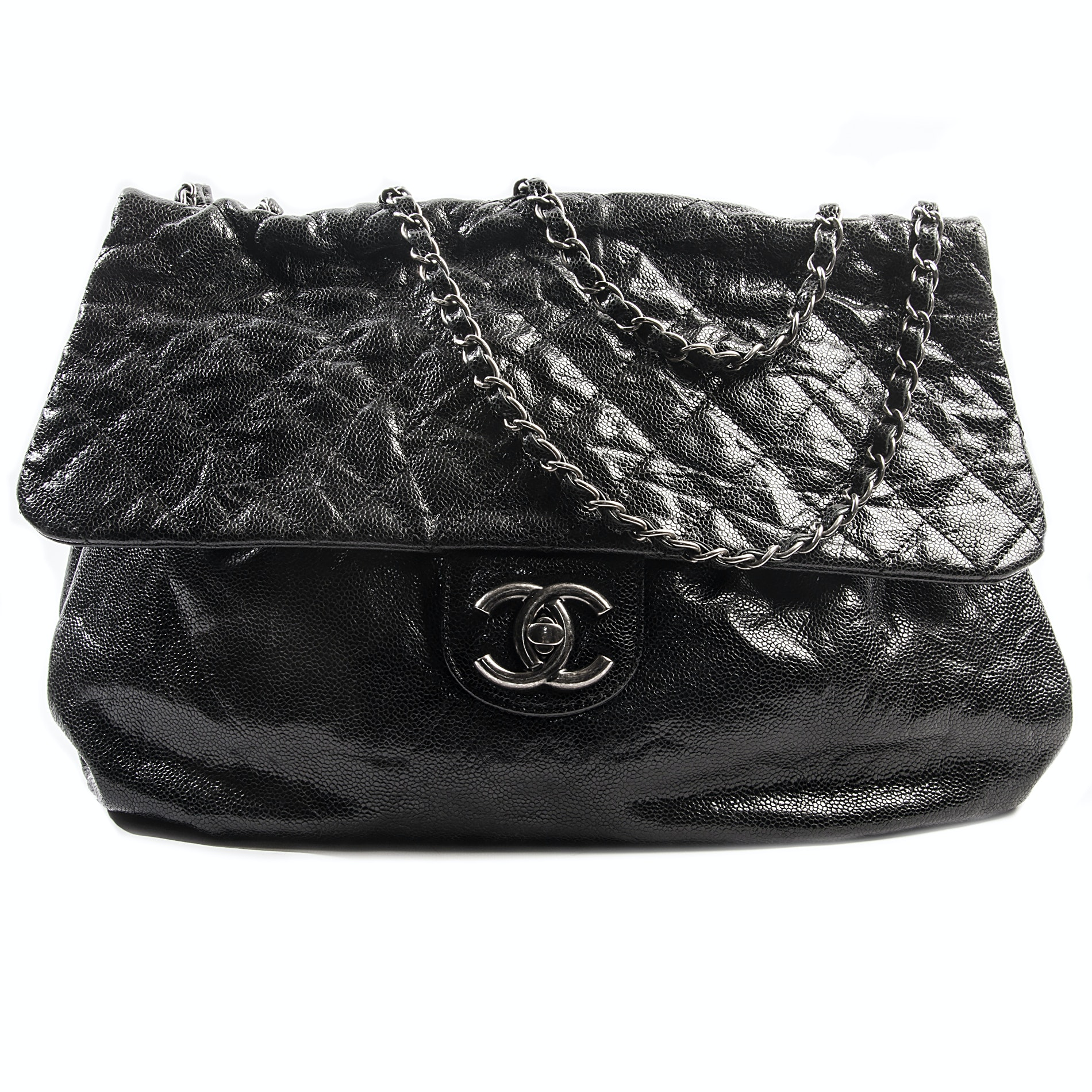 Chanel Black Python Quilted Bag