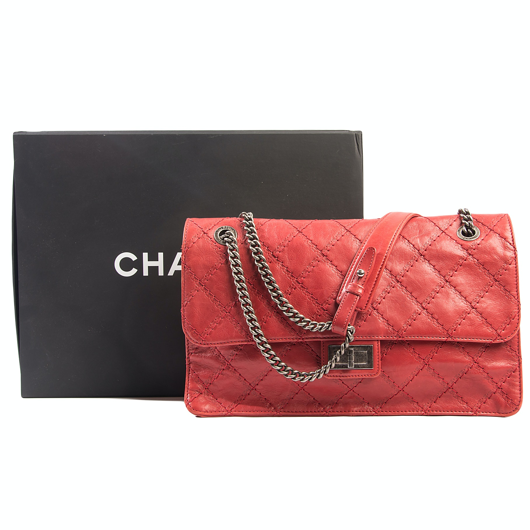 Chanel Red Quilted Classic Flap Bag