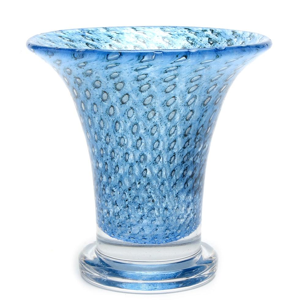 Kosta Boda Flared Art Glass Vase
