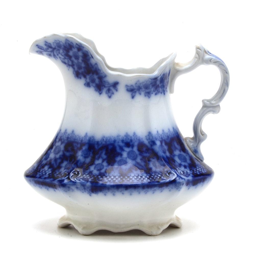 Antique W.H. Grindley Flow Blue Pitcher
