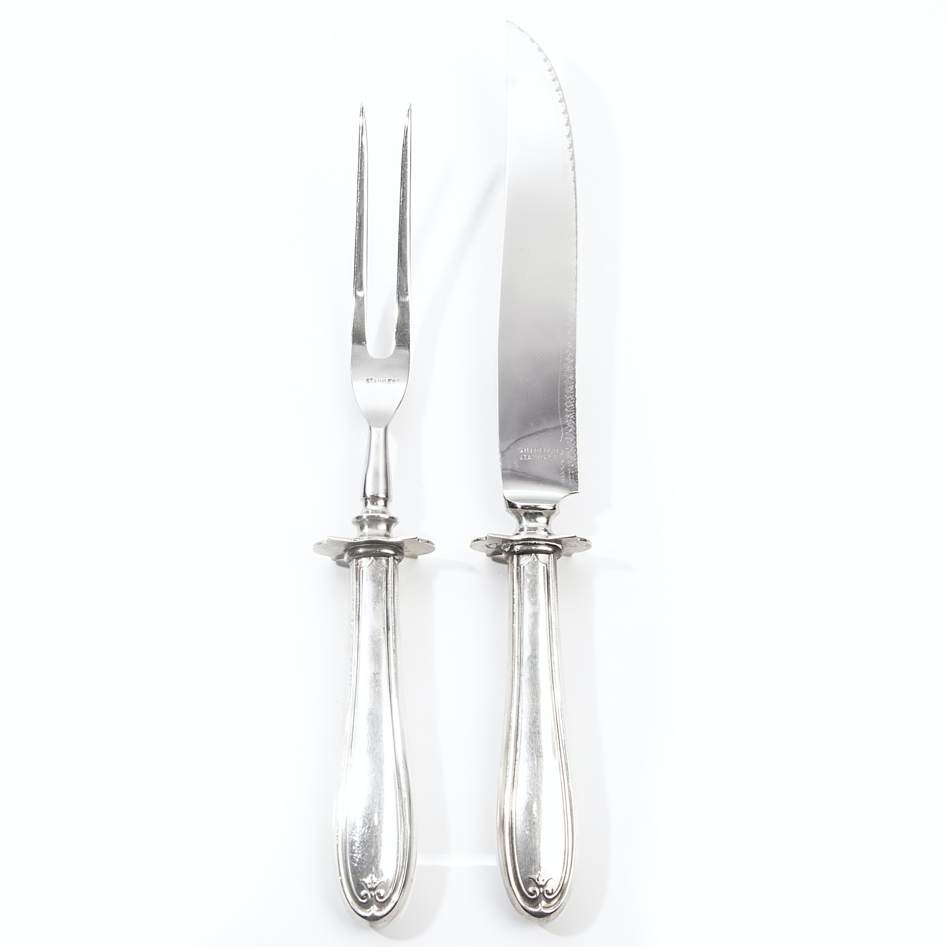 G.H. French Sterling Silver Carving Set