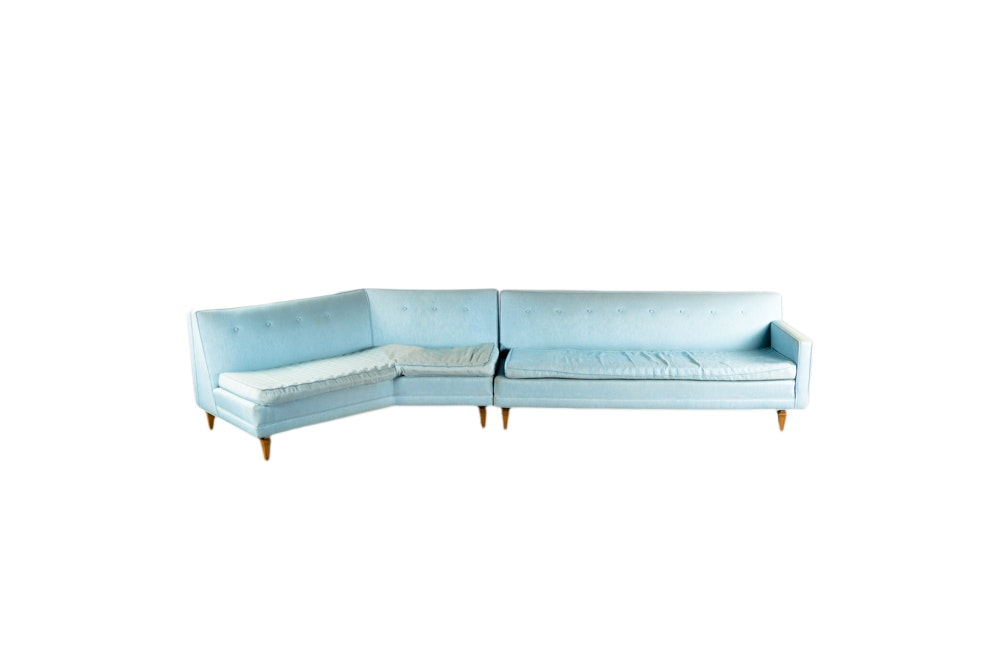 mid century modern sectional sofa by marden