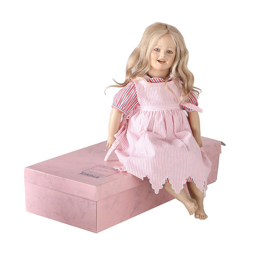 "1986 Annette Himstedt ""Lisa"" Doll From Barefoot Children Collection"