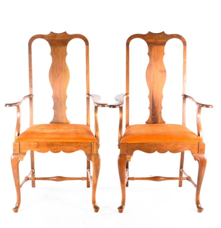 Vintage Queen Anne Style Dining Chairs by John A. Colby & Sons : EBTH