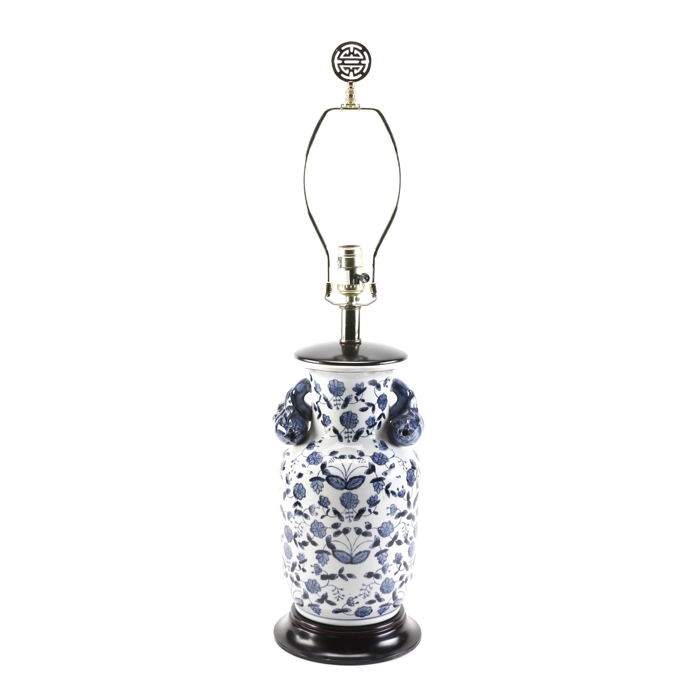 Chinese Blue and White Ceramic Table Lamp