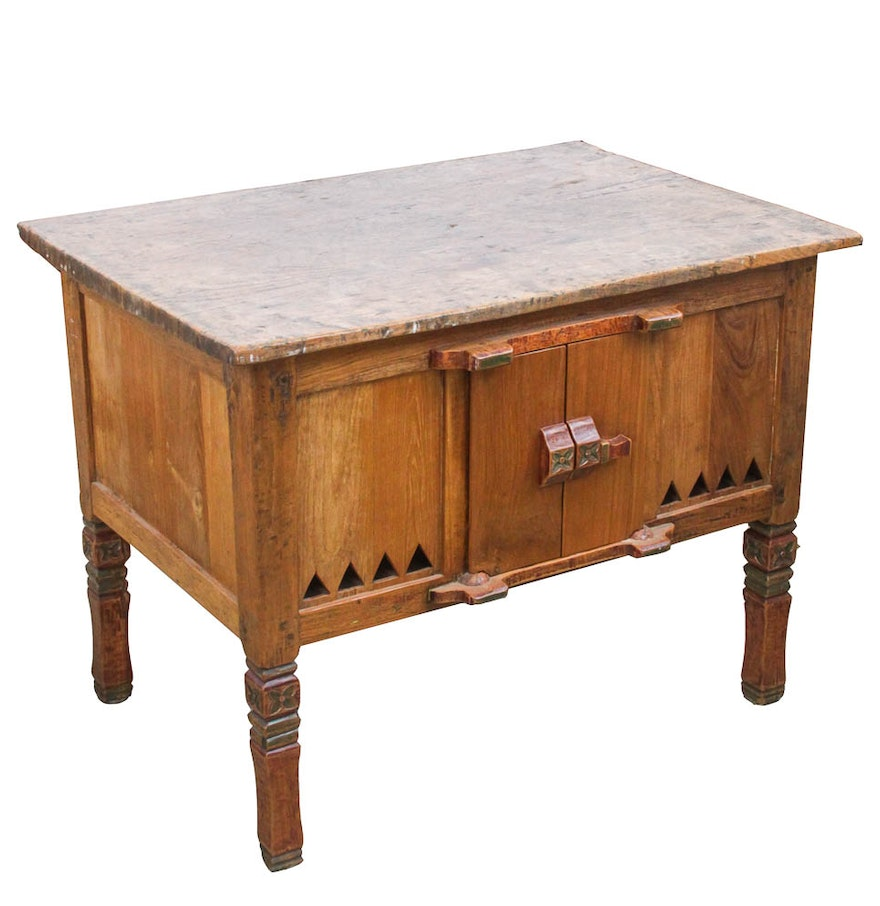 Antique kitchen work table - Rustic Antique Kitchen Work Table
