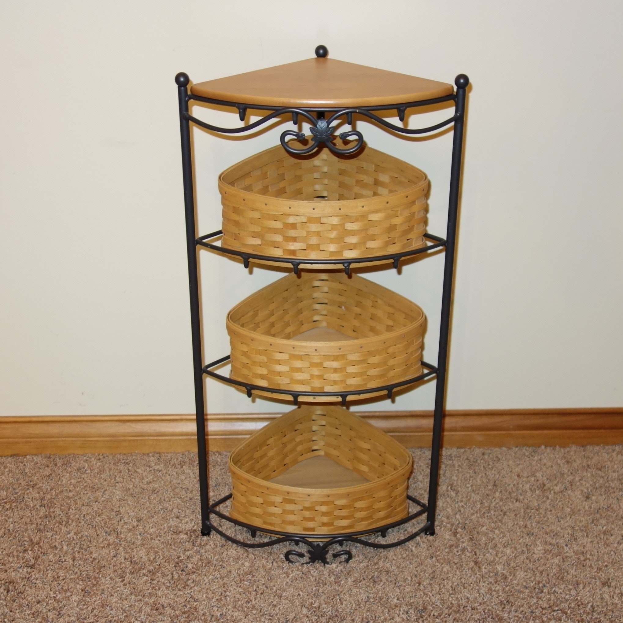 2002 Longaberger Corner Stand Shelf