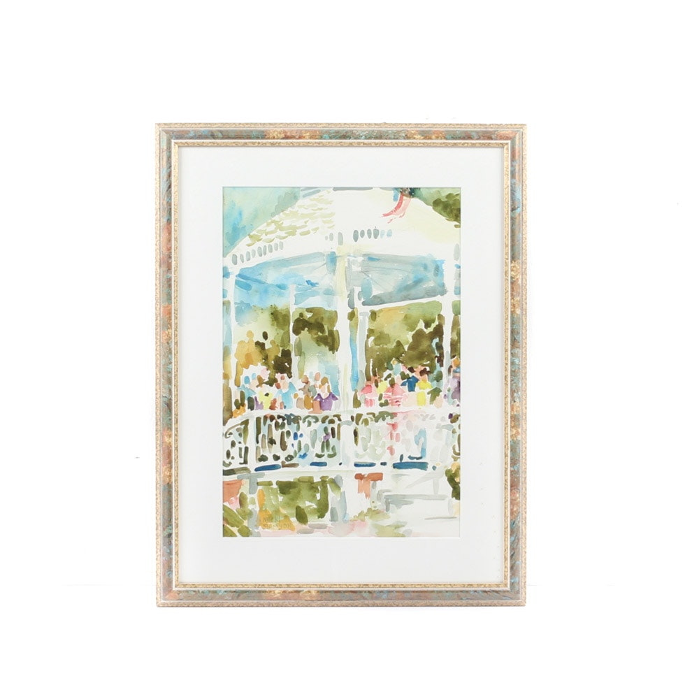 Nicki Samson Original Watercolor Painting on Paper