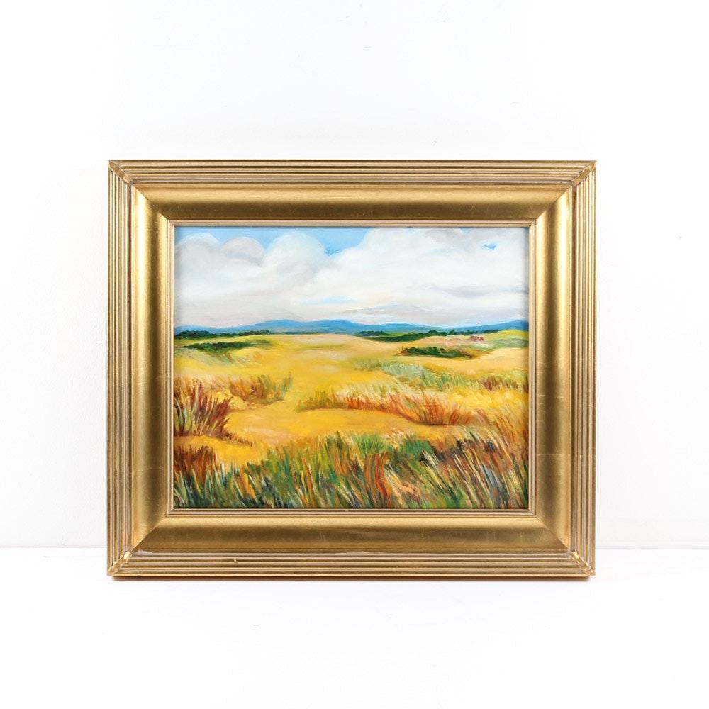 Nancy Meyer Landscape Oil Painting on Canvas