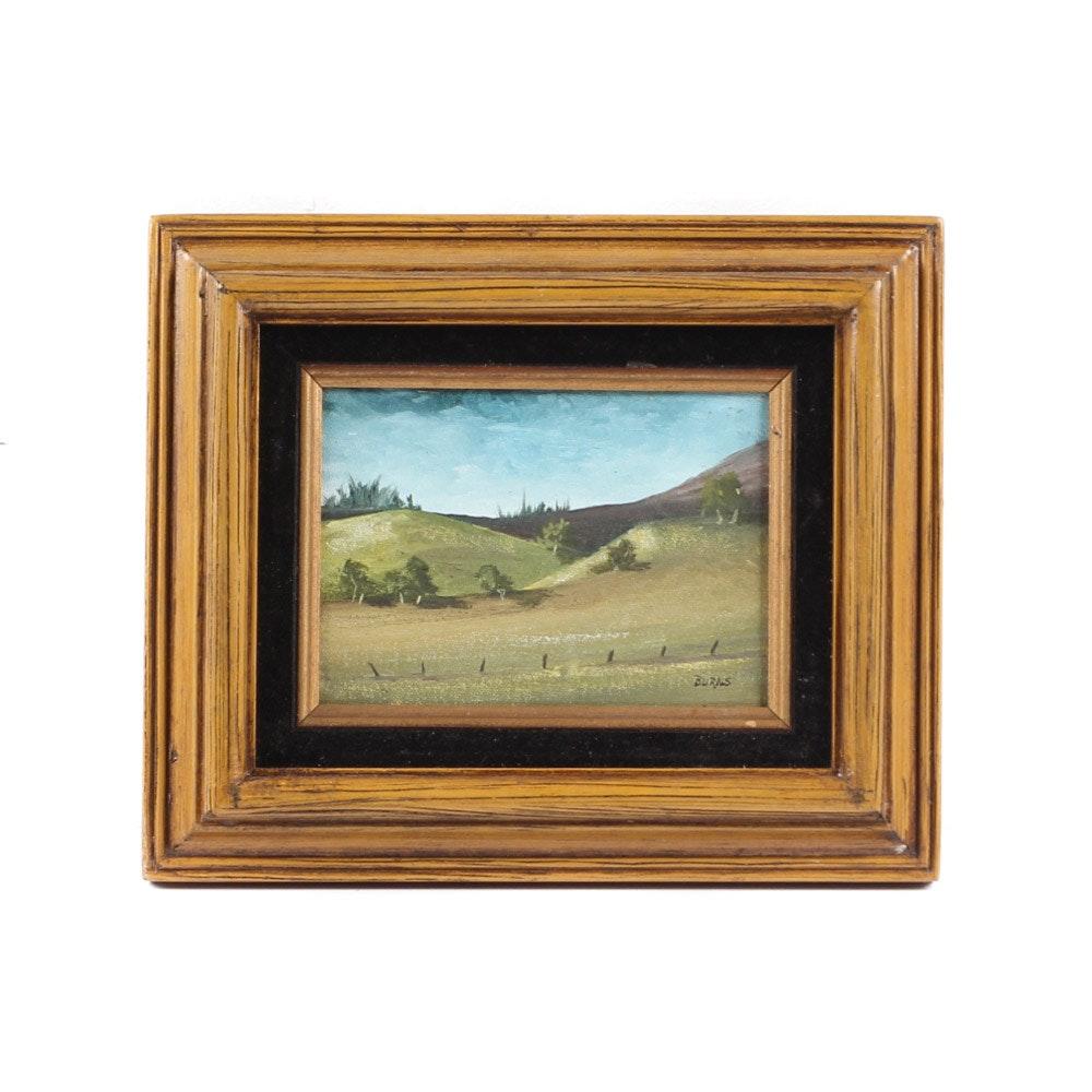 Burns Landscape Oil on Canvas