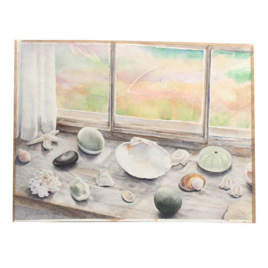 June Carver Roberts Watercolor Still Life