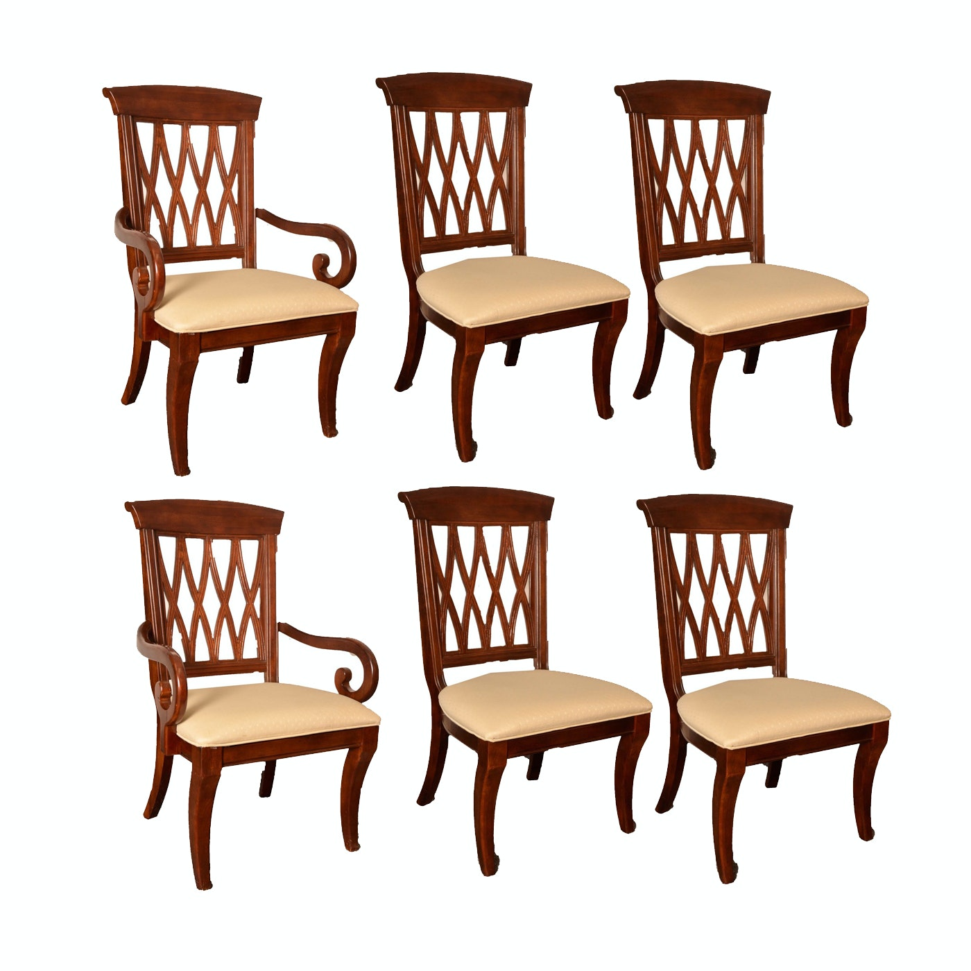 Set of Mahogany Finished Dining Chairs