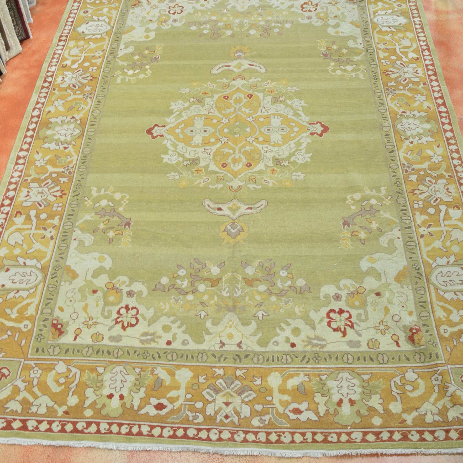 Hand Knotted Oushak Area Rug