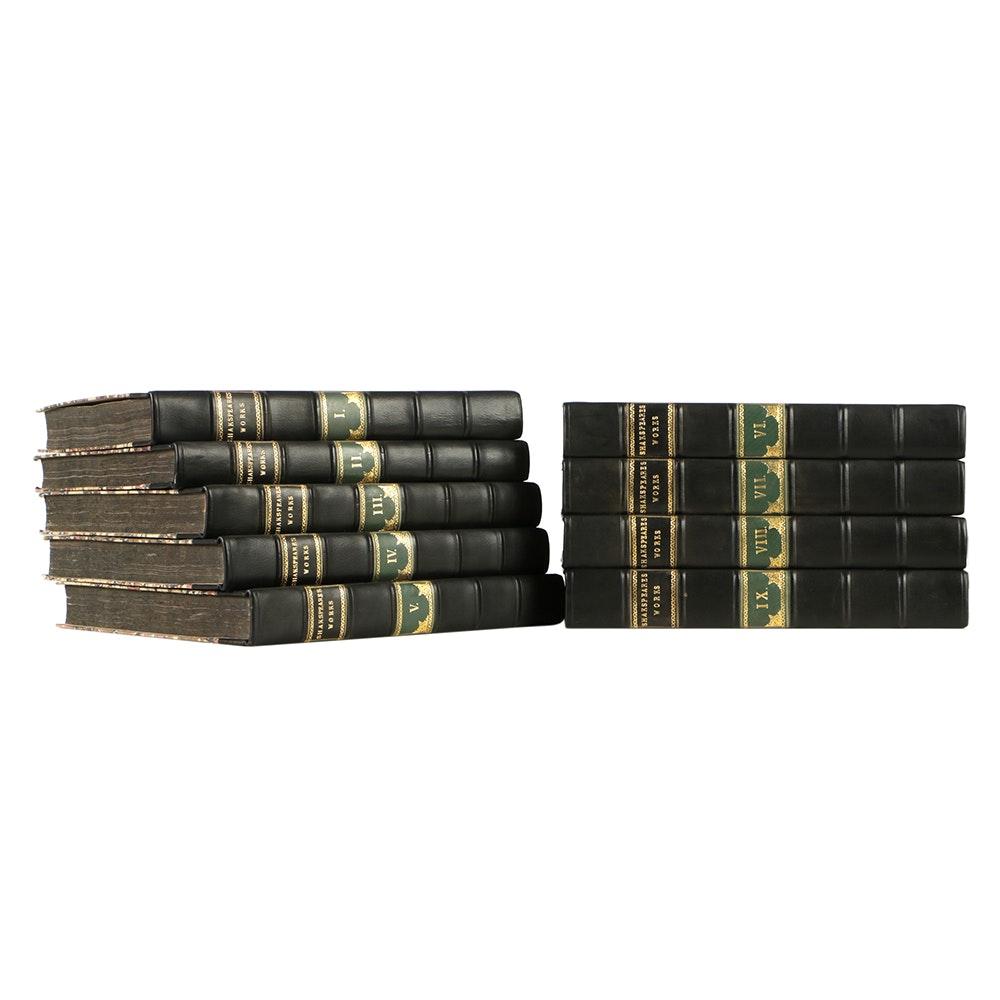 "1802 Lavishly Illustrated Nine-Volume ""The Dramatic Works of Shakspeare"" Printed by John and Josiah Boydell"