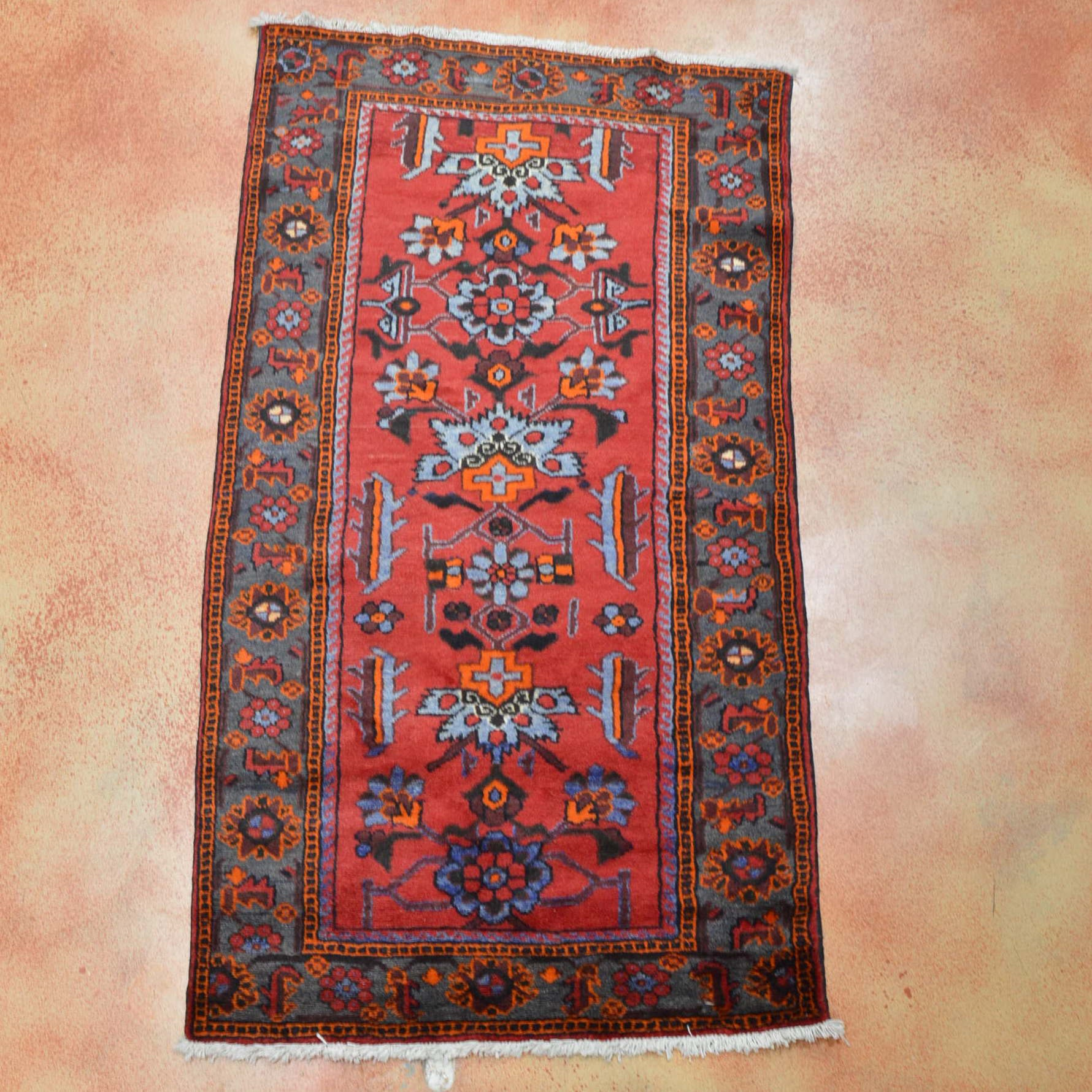 Hand Knotted Hamadan Area Rug