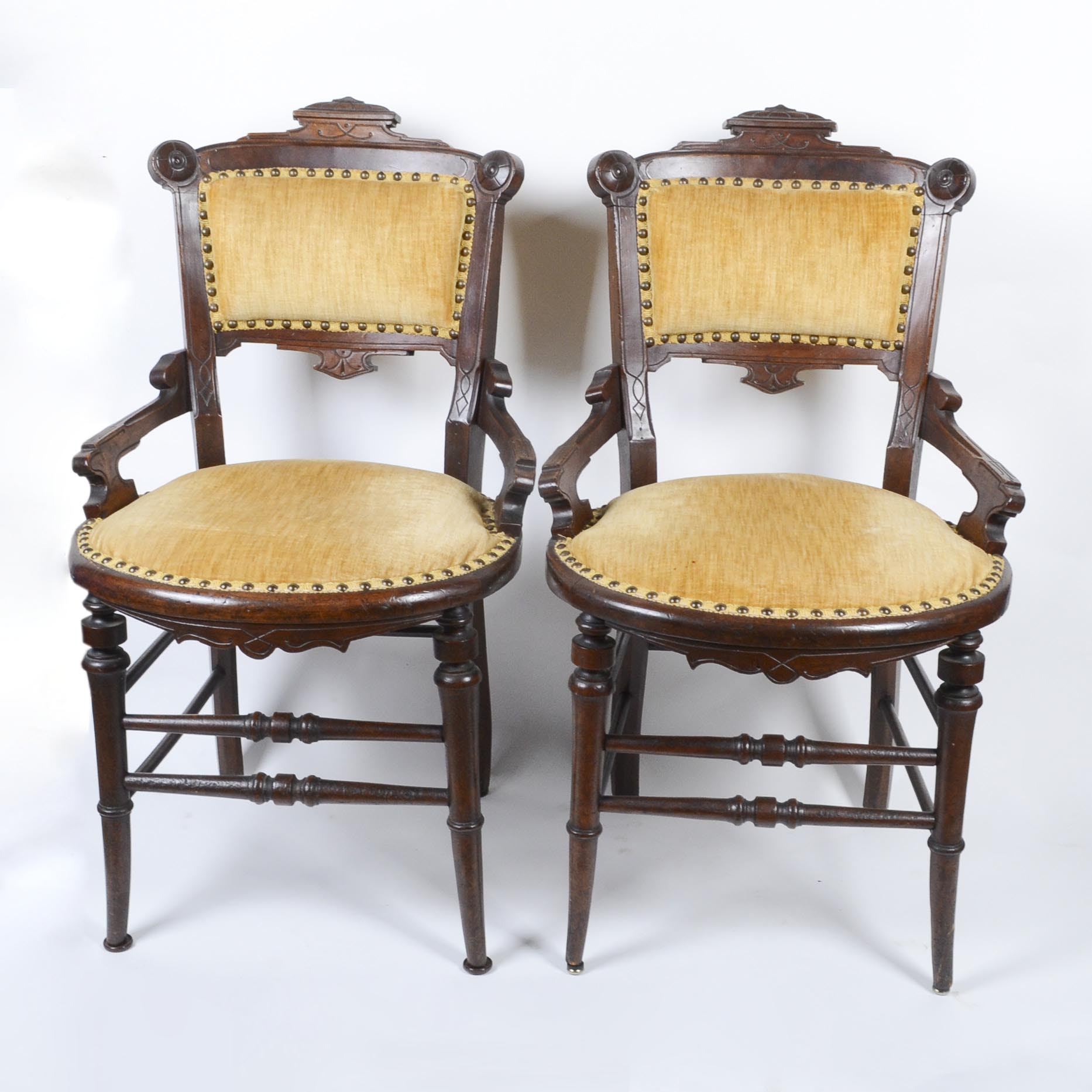 Pair of Vintage Eastlake Style Side Chairs