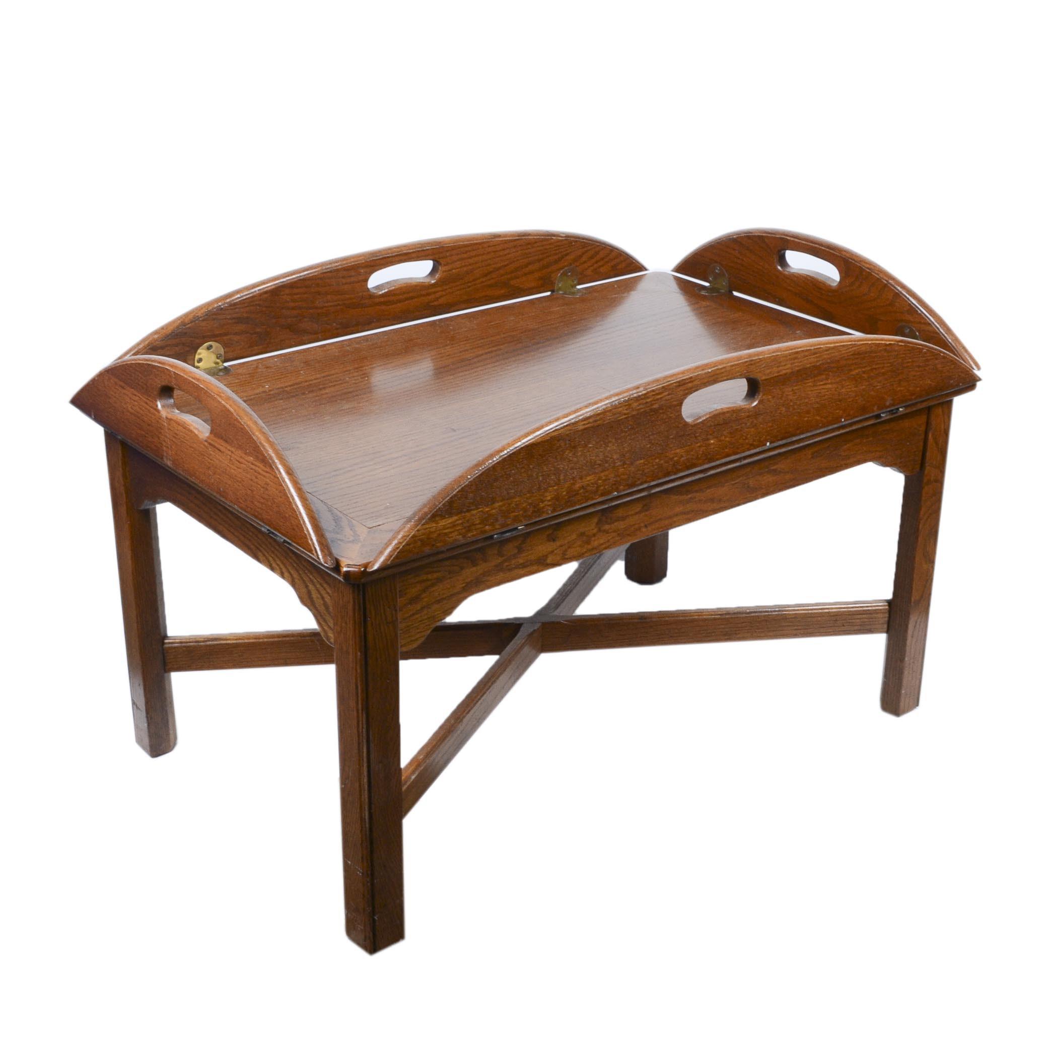 ethan allen butler tray coffee table ebth