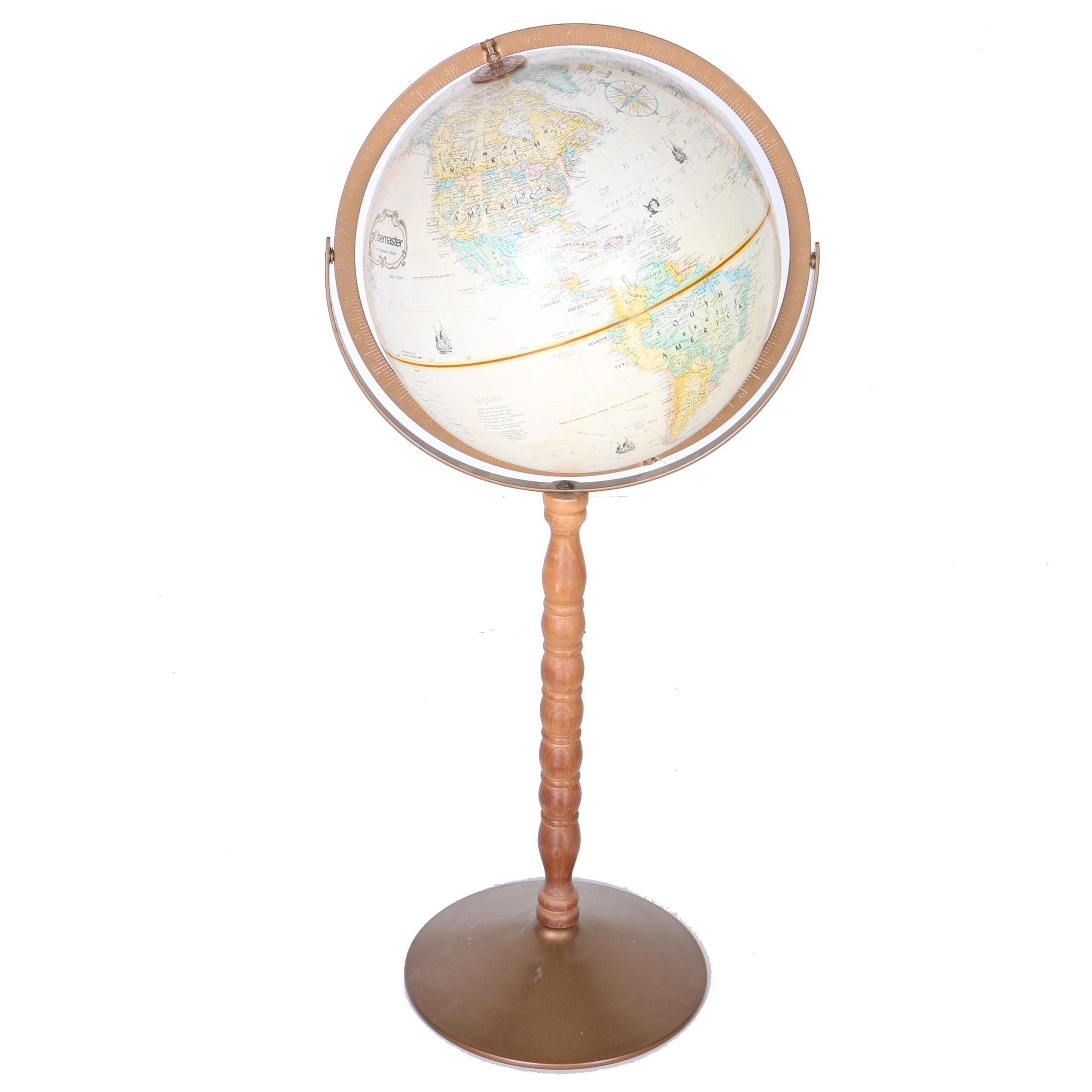 Globemaster Pedestal Globe