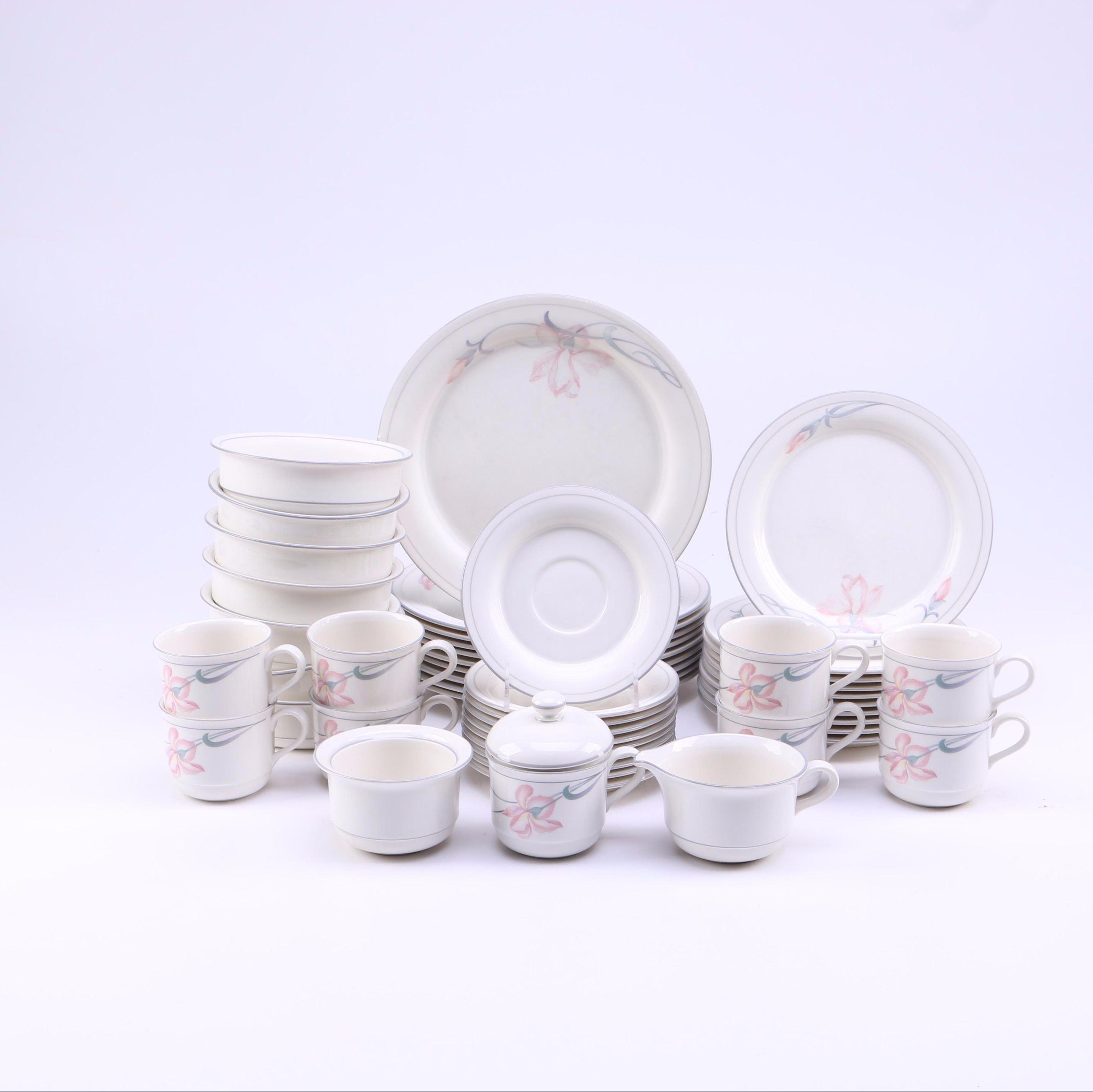 "Lenox Chinastone ""Iris on Grey"" Tableware"