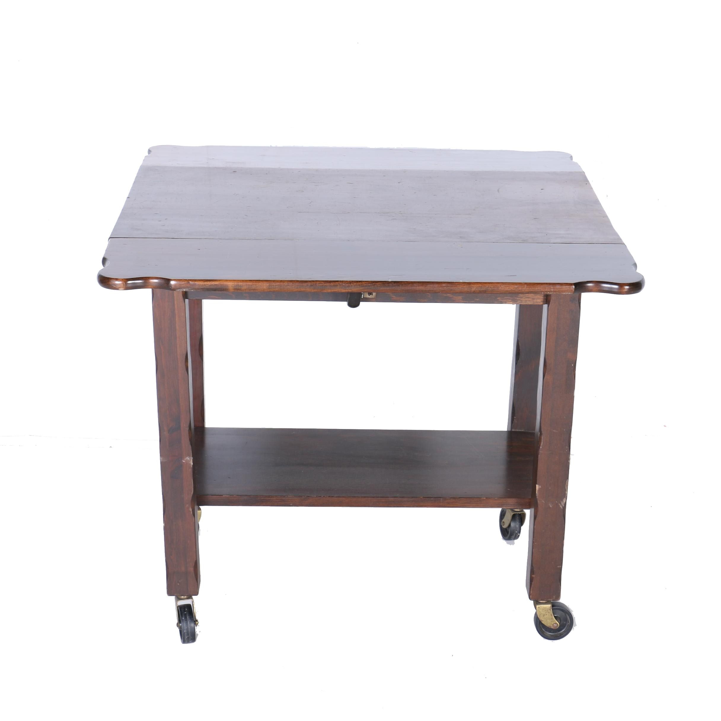 Distressed Style Drop Leaf Table