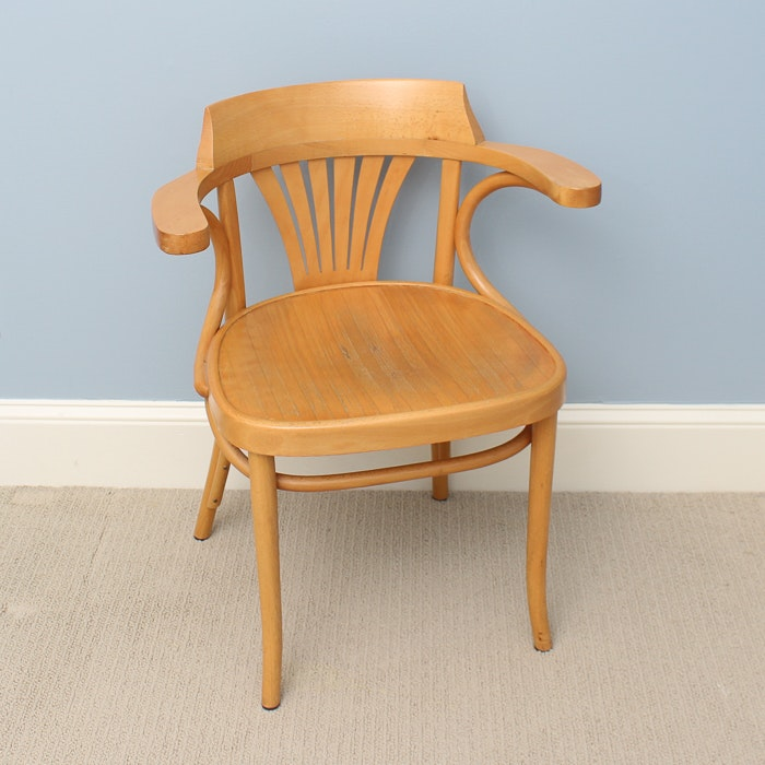 Mid-Century Wood Child's Chair