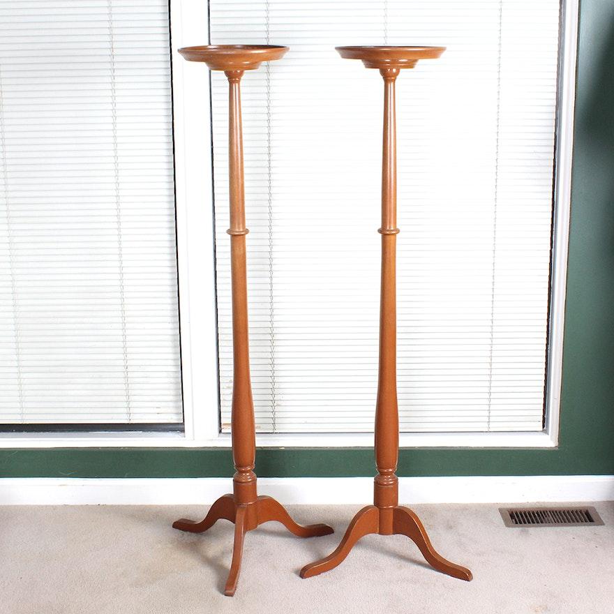 Pedestal Plant Stands ~ Maplewood tall pedestal plant stands ebth
