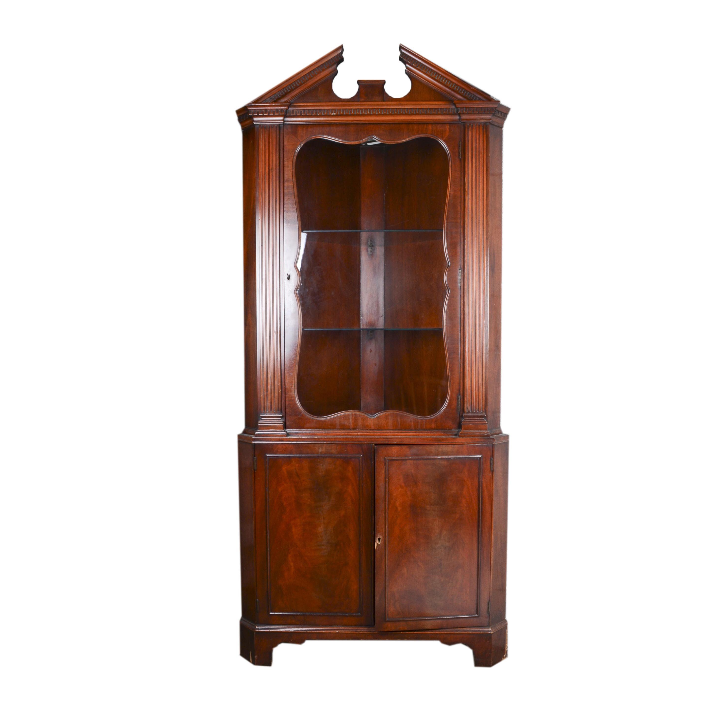 Illuminated Corner Display Cabinet