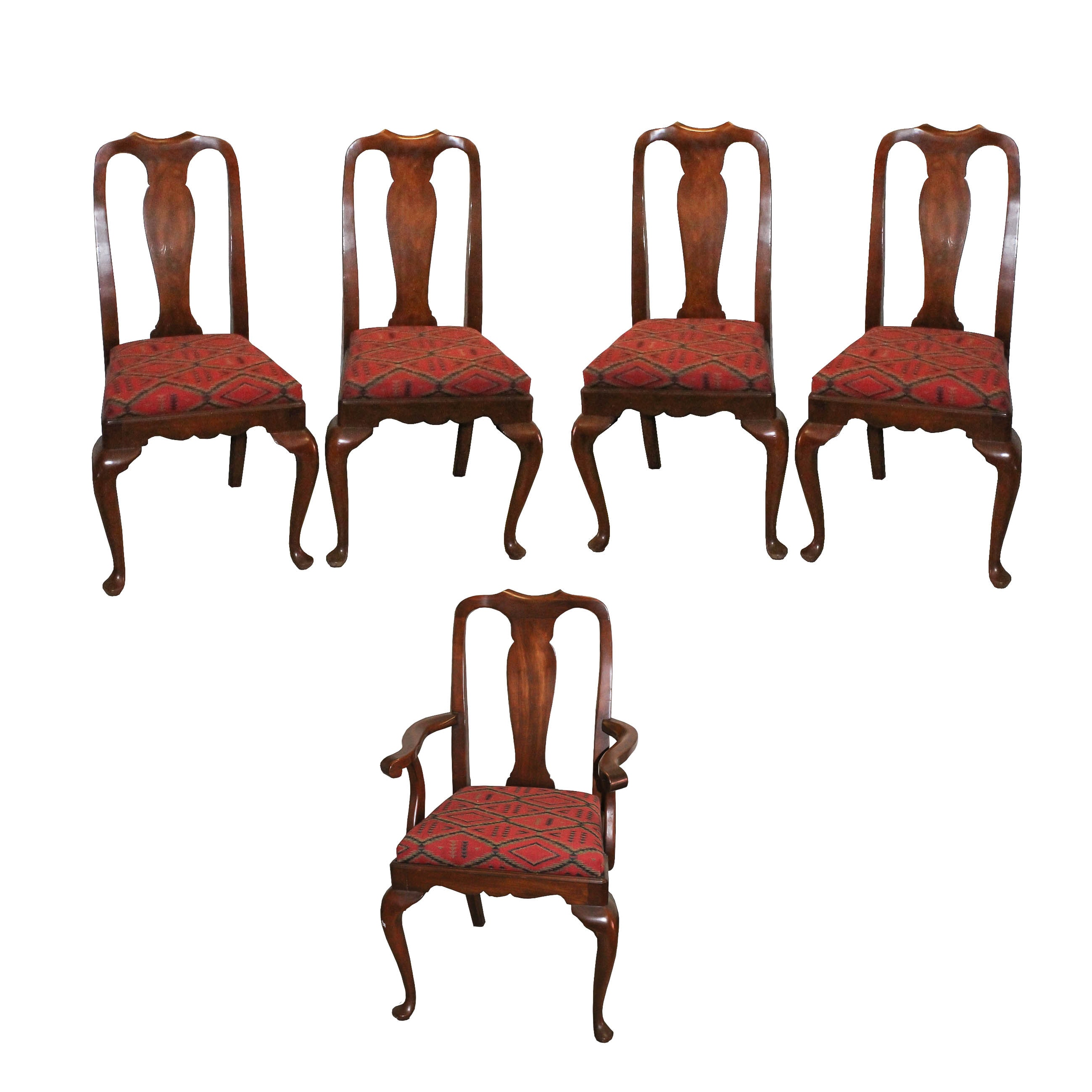 Vintage Queen Anne Style Dining Chairs By Henkel Harris ...