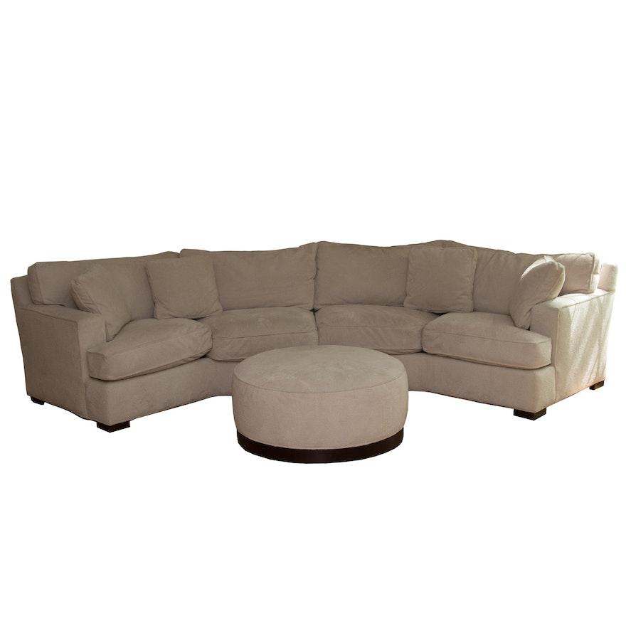 Brilliant Arhaus Furniture Sectional Sofa And Ottoman Customarchery Wood Chair Design Ideas Customarcherynet