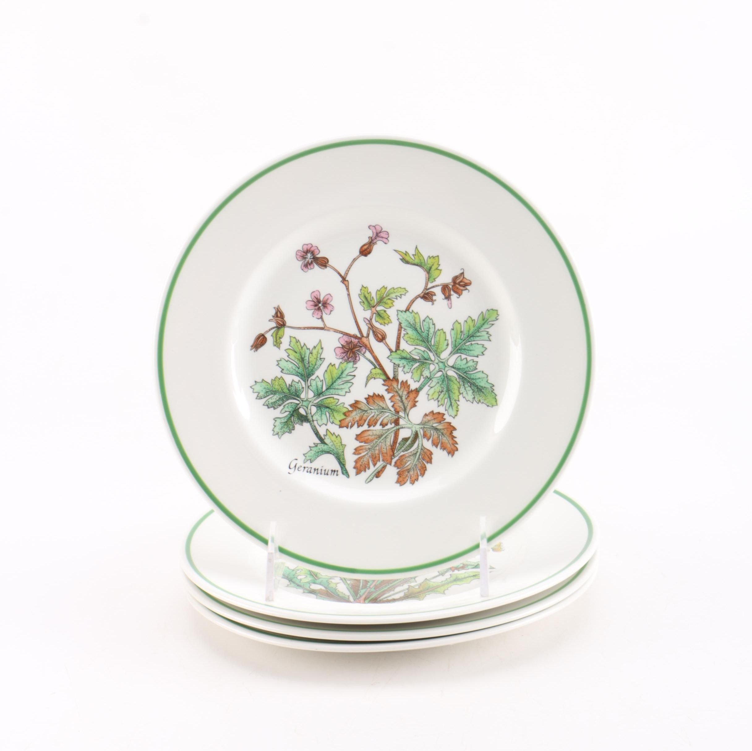 Set of Tiffany & Co. Wild Flowers Plates