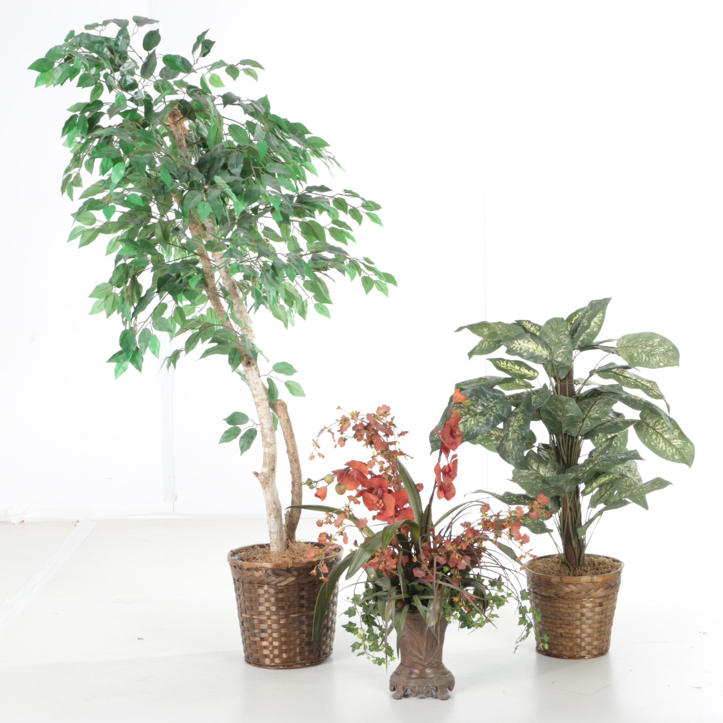 Faux Tree and Plants
