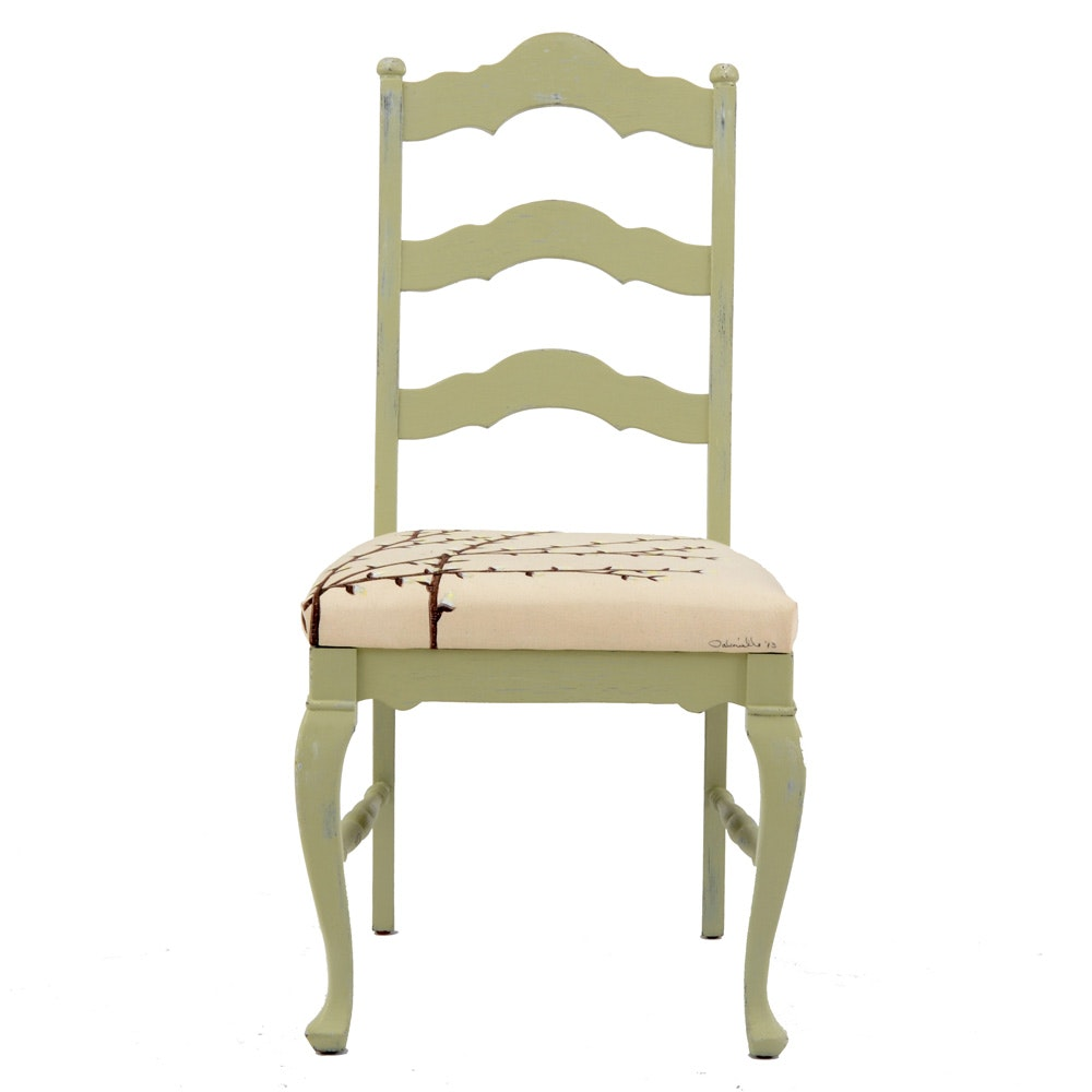 Side Chair with Painted Seat