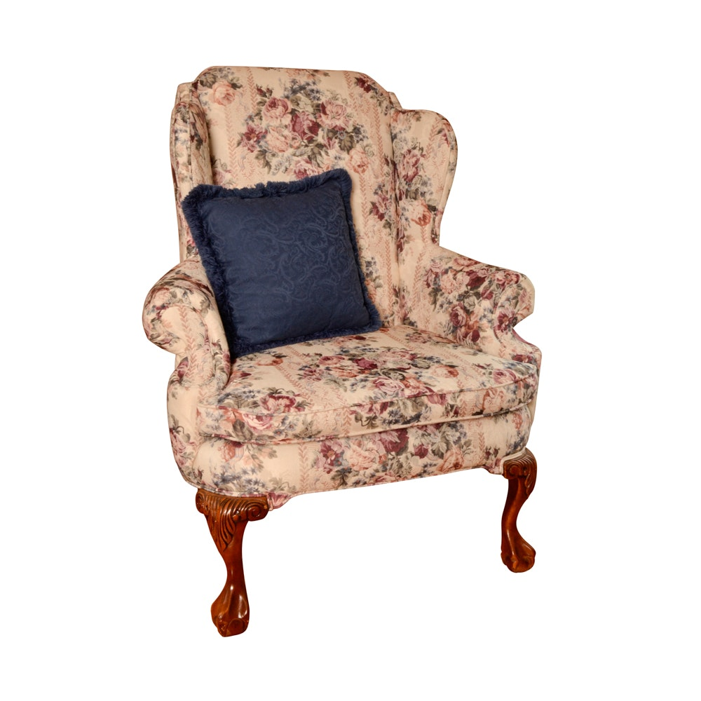 Chippendale Style Wing Chair By Schnadig ...