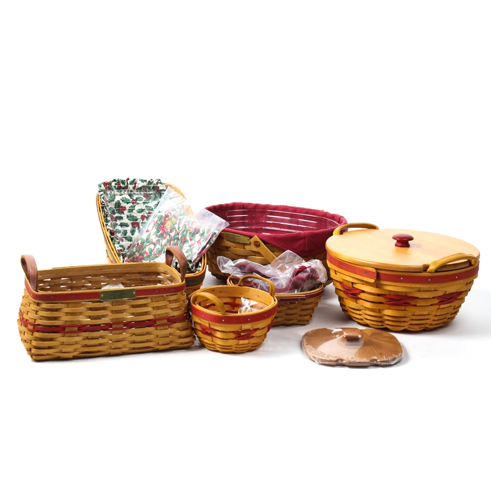 Assorted Longaberger Christmas Baskets