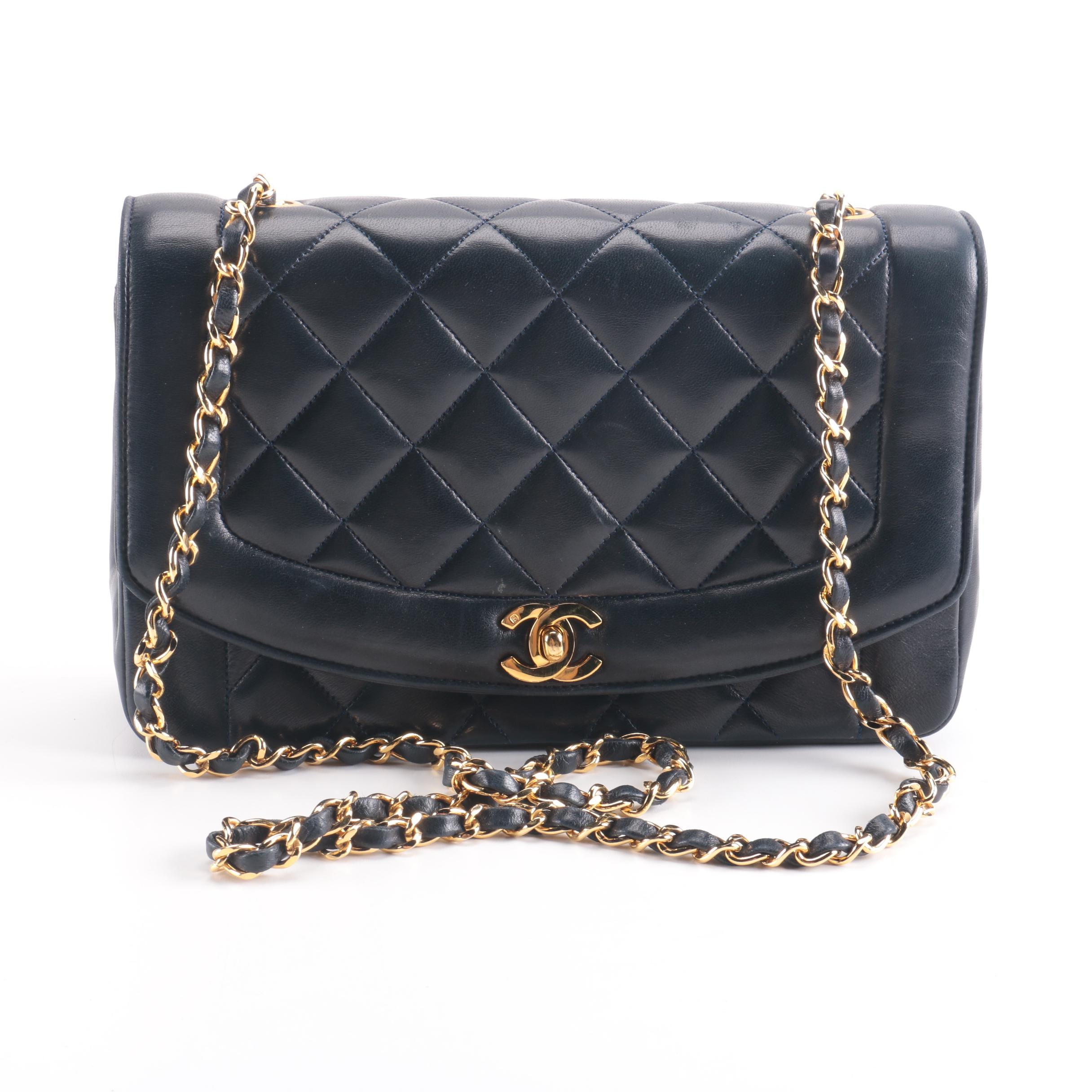Chanel Navy Quilted Bag