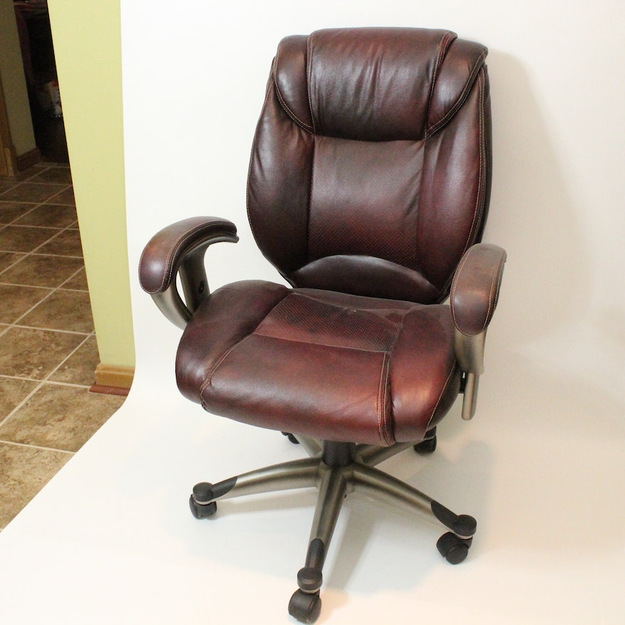 Burgundy Office Chair By Lane