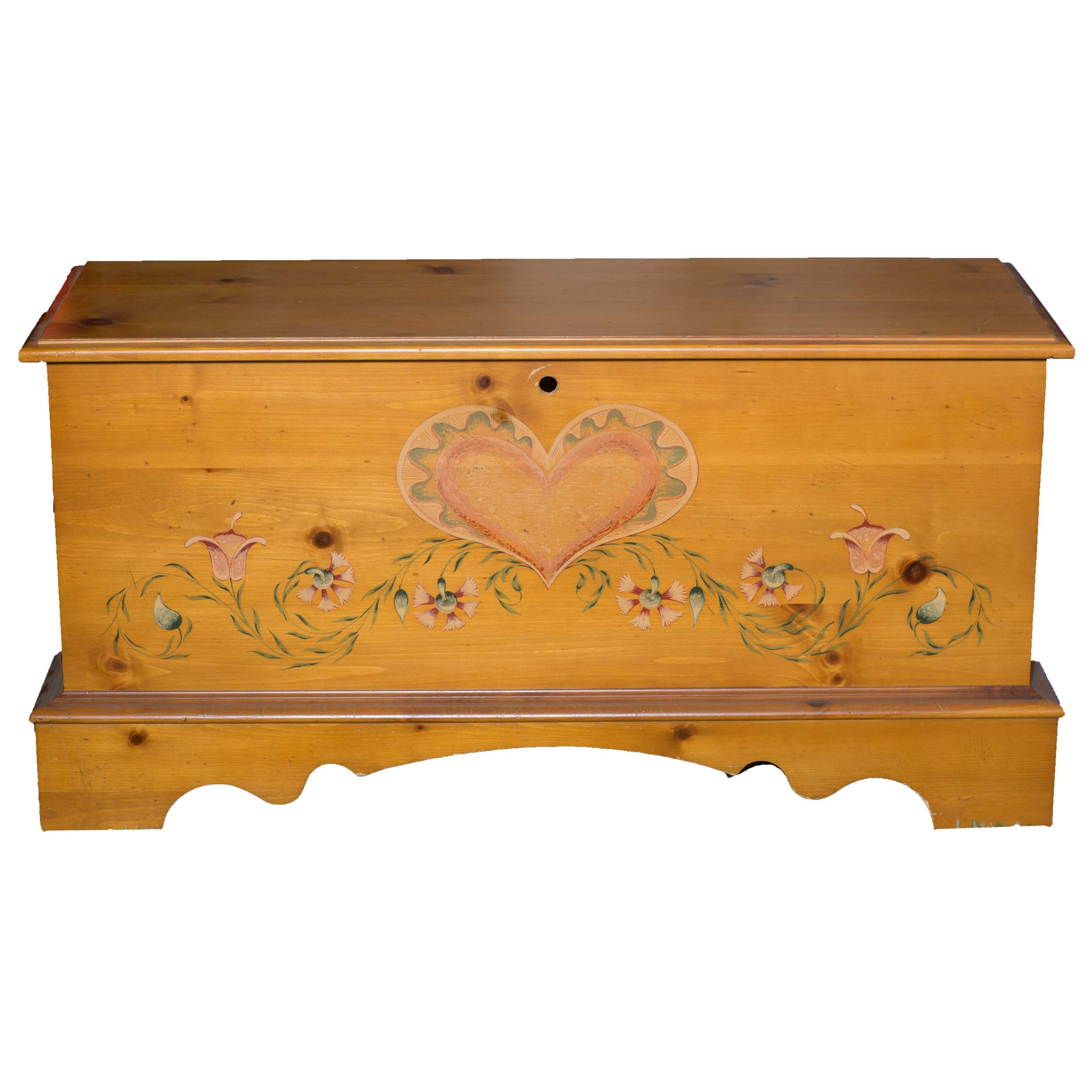 Painted Country Lane Cedar Chest
