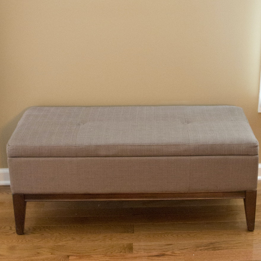 Teagan Upholstered Storage Ottoman By Whalen Furniture Ebth