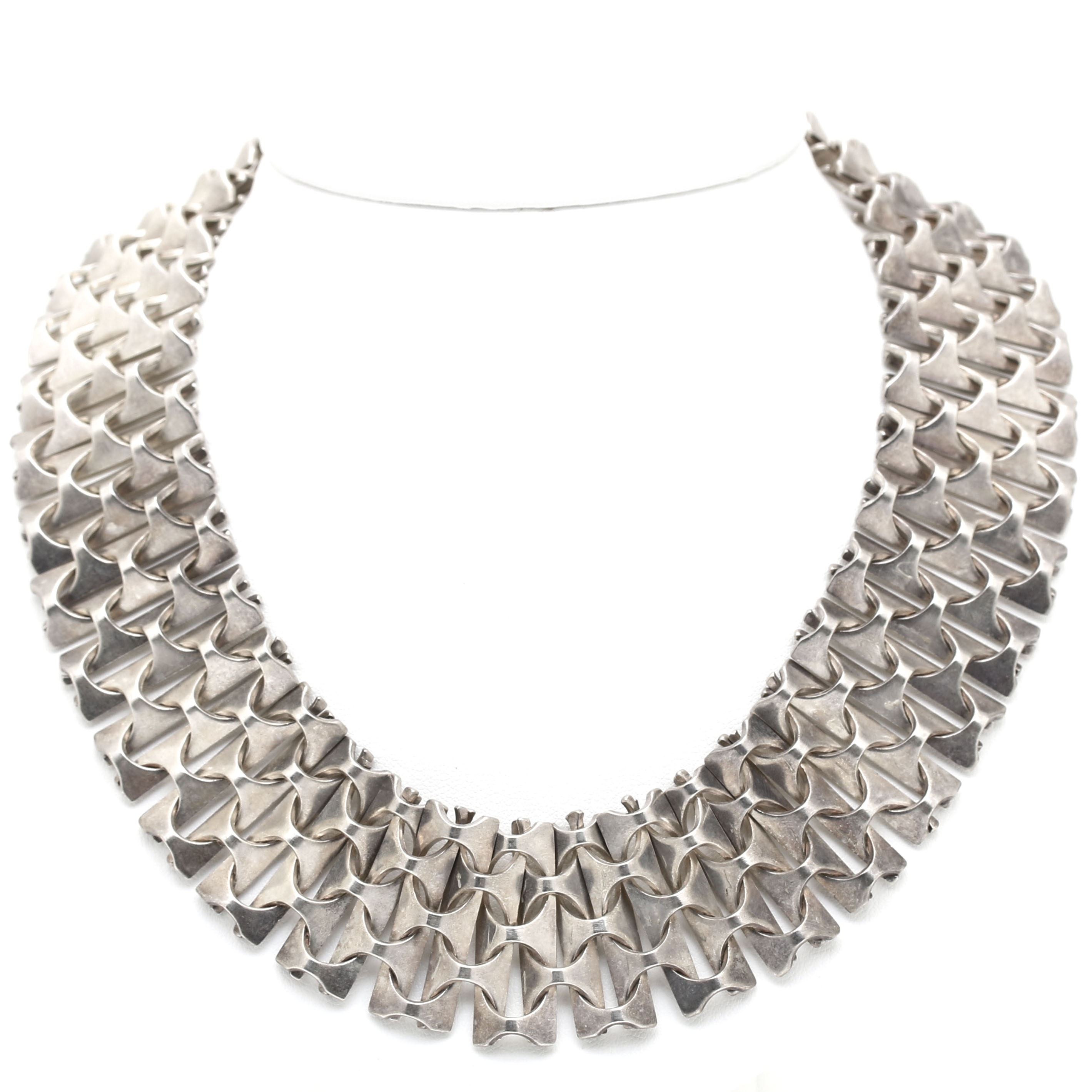 Rey Urban for Age Fausing Modernist Sterling Silver Necklace