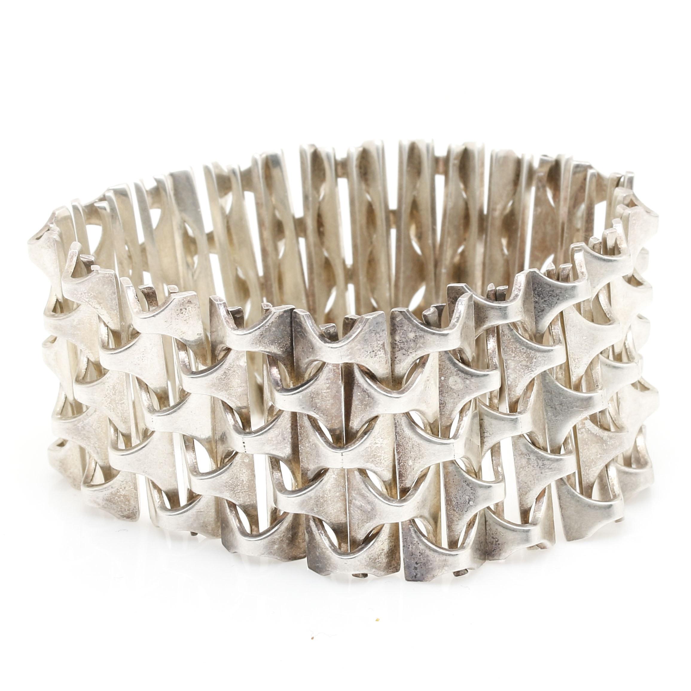Rey Urban Sterling Silver Modernist Bracelet