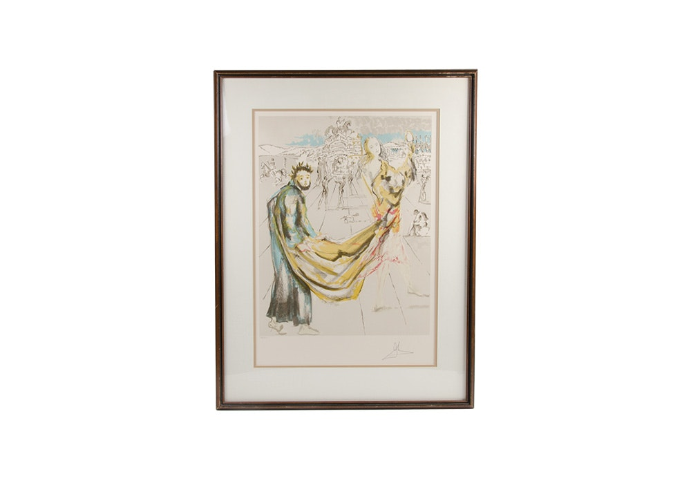 "Salvador Dalí Limited Edition Hand-Pulled Lithograph ""The Kingdom"""