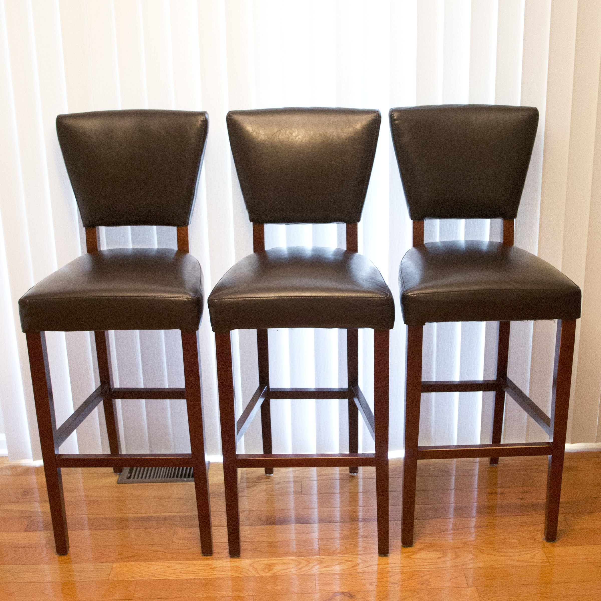 bonded leather bar stools by pier 1 imports