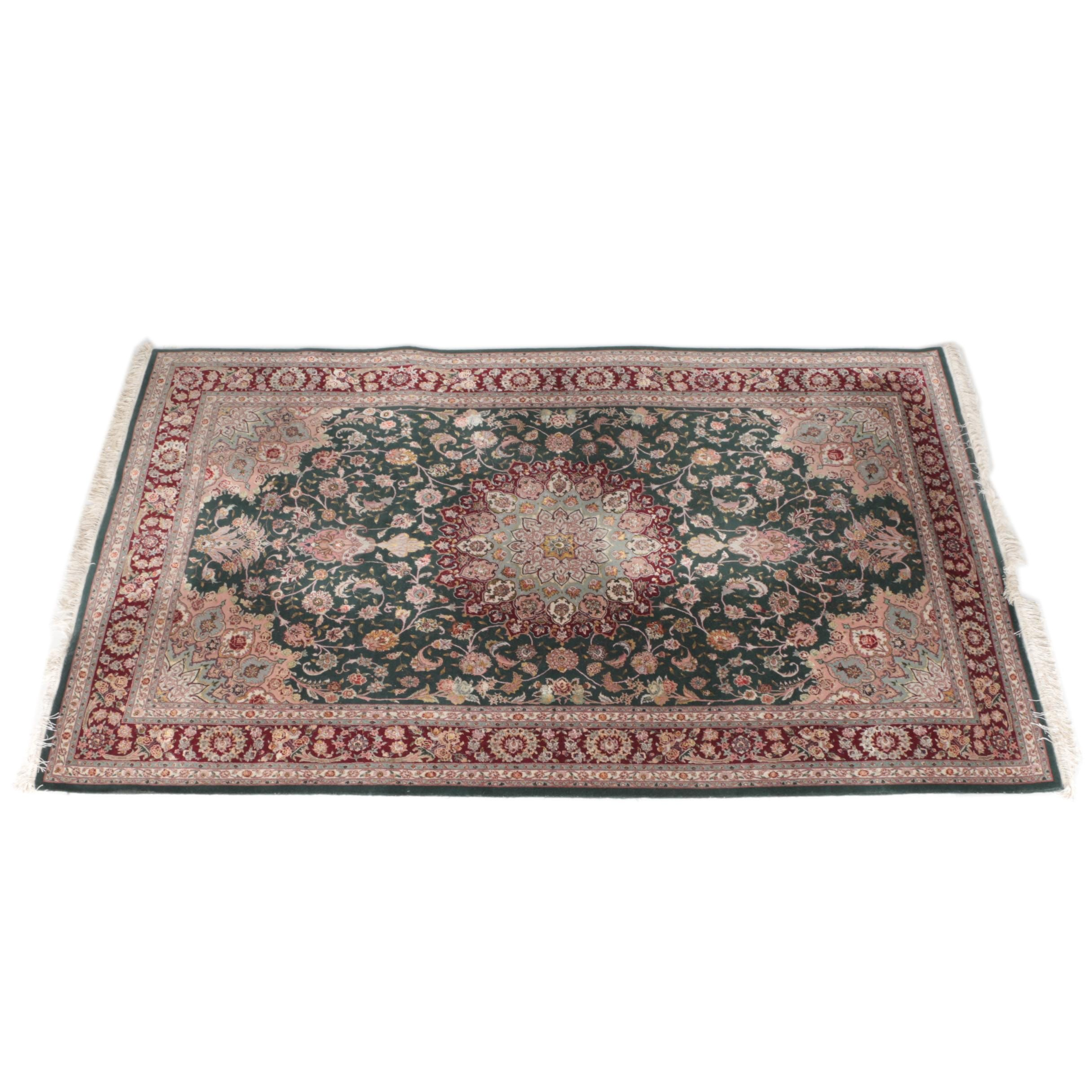 Hand-Knotted Northwest Persian Kashan Area Rug