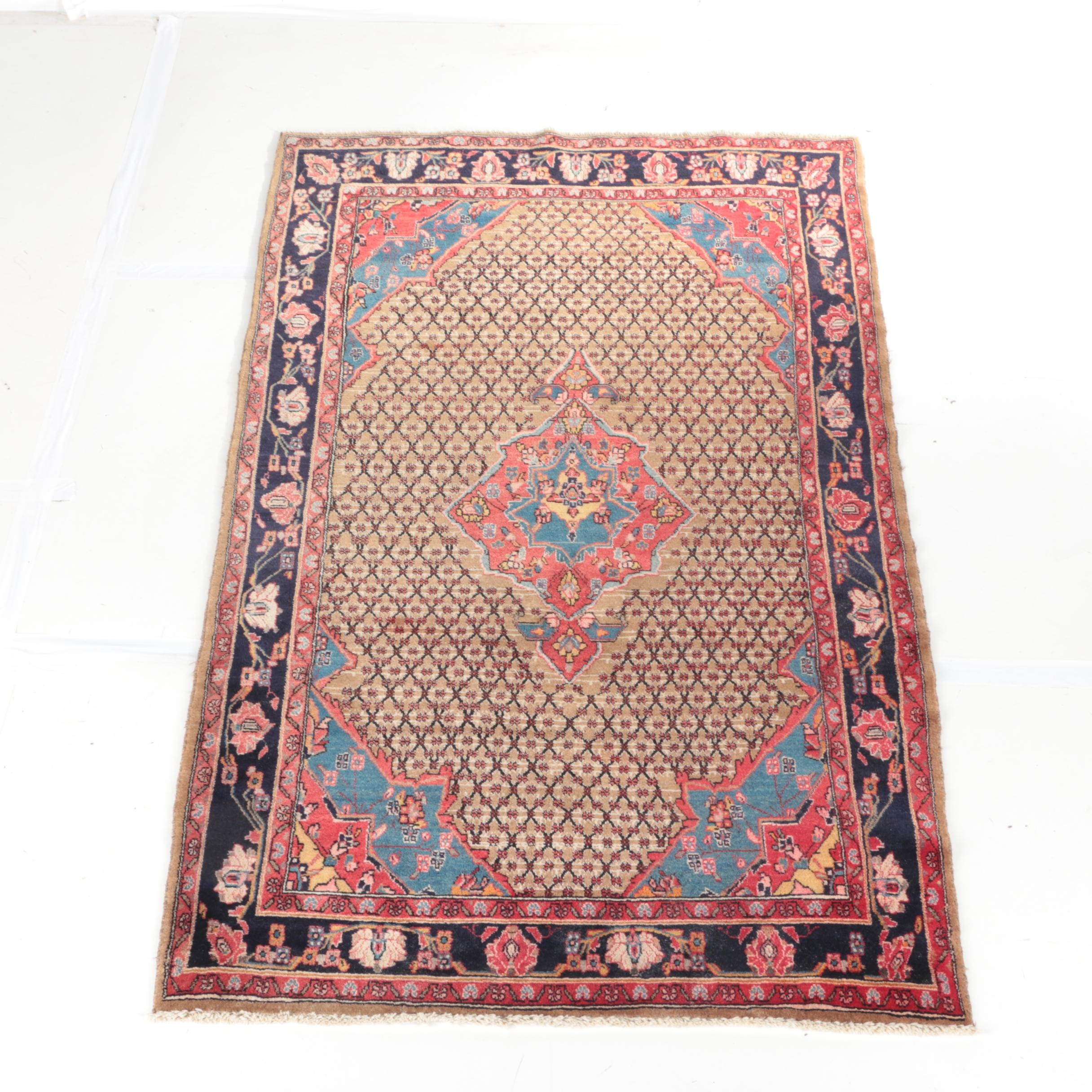 Hand-Knotted Persian Hamadan Area Rug